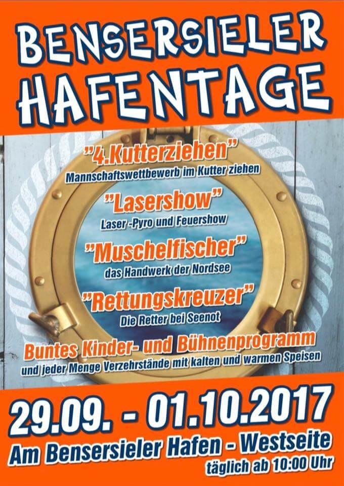 Bensersieler Hafentage 2017 Plakat