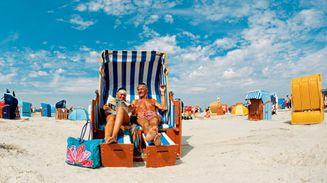 Strandkorb am strand  Strand — Bensersiel