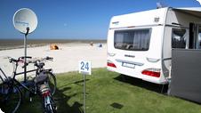 Camping mit Wohnwagen