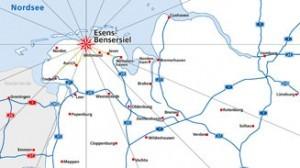 Karte Esens-Bensersiel