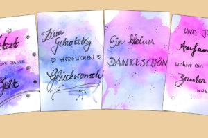 Titel Banner Karten Handlettering
