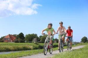 Fahrradfahren am Benser Tief