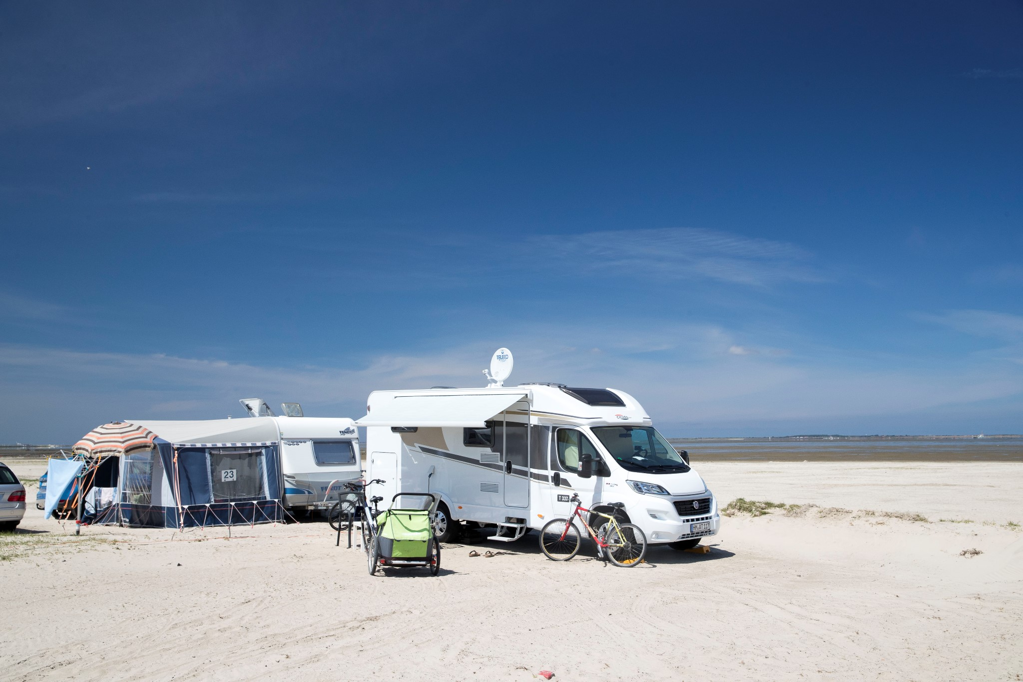 Camping mit Wohnmobil Nordsee