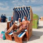 Erholung im Strandkorb
